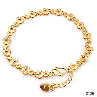 (Min Order is 10$) Hot selling 18k gold bracelet gourd gold color bracelet ks130