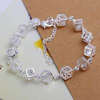 H241 Free Shipping 925 Silver Bracelet Fashion Jewelry Bracelet Whitehead checkered Bracelet awva joca