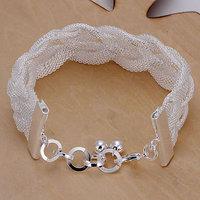 LQ-H253 Free Shipping 925 Silver Bracelet Fashion Jewelry Bracelet Mesh woven bracelet aita jaaa
