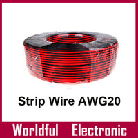 LED strip cable wire red and black AWG20 LED single color Strip light wire extention 100M/reel