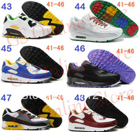 2013 brand new air 90 men's sports running shoes free shipping high quality breathable athletic shoes 72 colors 41-46