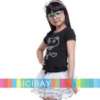 Children Summer Clothes Fashion Tshirts for Girl Wear,Kids Cartoon Tops, 7pcs/lot,Free Shipping  K0898
