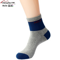 fashion stripe  thickness cotton socks spring and summer sports socks male