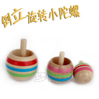 High-quality 3 pieces /lot Wood Magic small Spinning Top Rotate Their rotational inverted Children's Toy