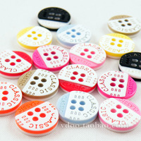 Buttons Monopoly Classic Lettering Colorful Buttons  Children's Shirt Buttons