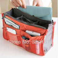 Free shipping! Hot sale Lady Women Insert Handbag Organiser Purse Large liner Organizer Bag Tidy travel