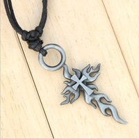 Min $10 Freeshipping wholesale high quality  leather bone men fashion necklace alloy necklace men jewelery