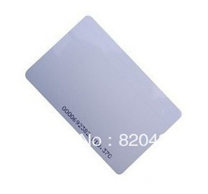 RFID EM4100 EM410X 125Khz Proximity ID Cards 0.8mm Thin Credit Card Size 100pcs/lot