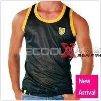 Free shipping, 3pcs/lot, Andrew Christian men sports undershirt / men vest / sleeveless T-shirt / 5 Colors 3 Size