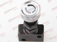 Adjustable Knob Screw Type Brake Proportioning Valve Bias Valve Black