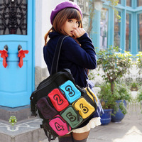 Backpack shoulder bag messenger bag dual-use package multifunctional student school bag