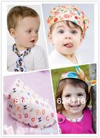 BB18 10pcs/lot Classical Trend Infant Baby Headscraf Scraf saliva towels Baby bibs Baby wear accessories Burp Cloths