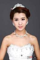 Wedding Jewelry Set Crystal Set Bridal Tiaras Necklace Earring Free Shipping