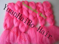 Stocks! 6pcs/a lot  Factory Cheap Price Hot Bright Pink Color kanekalon super jumbo braiding hair