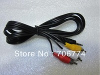 3.5mm Jack to 3 RCA Adapter Cable Audio Video AV 50pcs Free Shipping