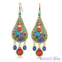 Free shipping Hot ! Bohemian Style Earrings Fashion Water Drop Earrings for Women E027