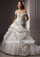 free shipping 2013 new style hot sale Sexy  bride wedding sweet princess Custom size crystal embroidery lace bridal dress