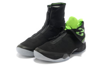 EMS Free Shipping Wholesale Trainers XX8 28 Retro Men Basketball Shoes Electric Green Black Running Trainers