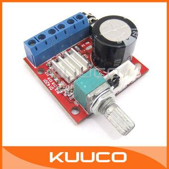 20 PCS/LOT HIFI 2.0 Mini Digital Audio Power Amplifier Module 2x10W 2Ch Class D AMP DIY 12V #090163