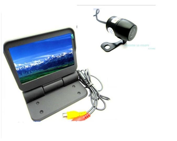 """Free Shipping!!4.3"""" TFT LCD Car Rear View Reverse Monitor HD 960**860 pixels+Car Review Camera(China (Mainland))"""