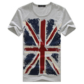 Summer new arrival 2013 Man short-sleeve Large Size torx flag round neck T-shirt Free Shipping