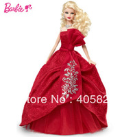 NRFB Holiday Barbie Doll 2012 Brand New Christmas Collector Blonde W3465 ORIGINAL BRAND  free shipping