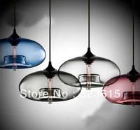 Niche Aurora Modern Amber Chocolate Transparent Smoke Sapphire Plum Grey Glass Pendant Light 11 W X 6.25H inches