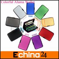 9 Color Aluminum Fine-Satin Waterproof Business ID Credit Card Holder Aluma Wallet Free Shipping