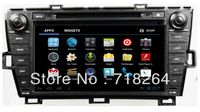 "Free Shipping  2009-2013 TOYOTA PIUS android 4.0 8"" HD Car DVD/GPS/PC system with DVD GPS wifi 3G"