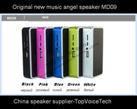20Pcs factory Original Mini MD09 mp3 music player,support Micro SD TF card reader speaker USB FM amplifier speaker,free shipping