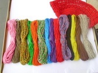 1mm x 15m hemp cord lot 15colors/lot high quality hemp twine lot free shipping