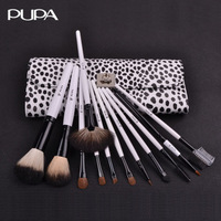 New year viewsonic pupa cosmetic brush set 12 professional makeup brush set bag beauty tools