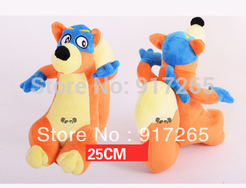 Best selling!!  Dora the Explorer  Swiper Fox  Plush Dolls Toy children toys doll Free shipping,1 pcs 25cm free shipping