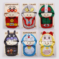 HOT HOT Free Shipping (6 sets/lot ) HY Baby Hat + Bibs 2 pieces Baby Cute Cotton Baby Bib with Hat, Kids Cartoon ANPANMAN Bibs