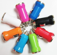 Colourful USB Car Charger Adapter for Cell Mobile phone iPhone 3G 3GS 4 4S 5 5G