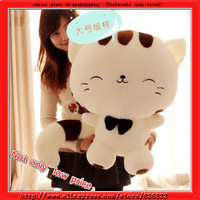 65CM Big face cat big tail High quality Low price Plush toys large mini doll birthday gift on discount