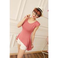 2013 summer women's irregular dovetail style slim short-sleeve T-shirt ty2056