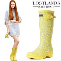 new 2013 Lostlands high quality comfortable handsome women's rain boots women's rainboots fresh rubber duck