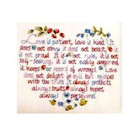 Free Shipping !!! New unfinished Cross Stitch  /diy Cross Stitch Kit / Cartoon Cross Stitch / I love you