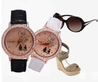 free shipping lovely crystal inset wrist watch women dress watches (Min Order 8$)