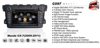 "7"" Car DVD Player autoradio GPS Mazda cx7 CX-7 2010 2011 2012 Free map +3G WIFI + V-20 Disc + 1GB cpu+ DDR 512M RAM + A8 Chipset"