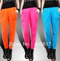 Pants multicolour viscose harem pants basic skinny pants