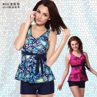 Hot spring swimwear female one-piece dress trunk swimwear swimsuit plus size