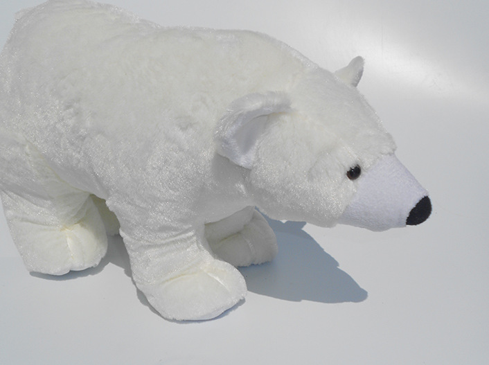 new Stuffed Toys White polar bear plush toy doll simulation doll lying posture children birthday gift free shipping(China (Mainland))