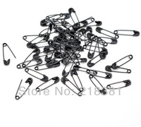 1000Pcs  Black Safety Pins Findings Fit Brooch/garment accessories 19x5mm