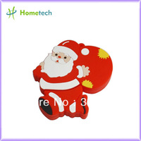 Red Santa Claus USB memory  for christmas gift USB sticks  A grade full capacity  1GB,2G,4G,8G,16GB,32GB