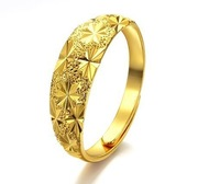 free shipping(Min.order $10)   2013 best quality 18K gold plated ring opening adjustable ring with classical pattern yellow ring