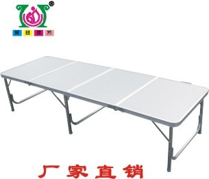 Portable camping aluminum folding tables and chairs 180*60*70cm camping chair Plastic/aluminum/wood(China (Mainland))