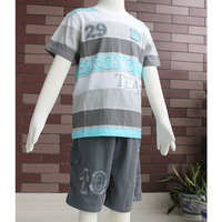 Free Shipping! 2013 summer new boys o-neck short sleeve t shirt and short pants with 3 pockets size 6/8/10/12/14  2493K