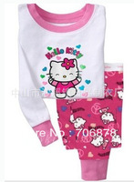6sets/lot baby wear set 100% conton baby long sleeve pajamas boy's and girl's underwear clothing sets kids clear suits sets A036